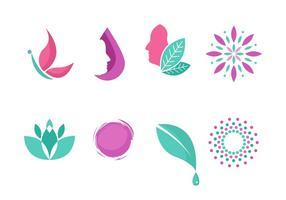 Coleção de símbolo de logotipo de clínica de beleza grátis vetor