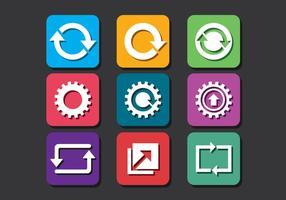 Atualizar pacote de ícones vetor