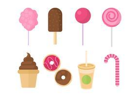 Coleção livre do vetor do doce e dos doces
