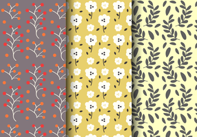 Teste padrão floral do vintage livre vetor