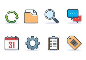 Conjunto de ícones de interface vetor