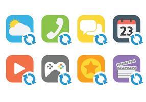 Ícones do ícone do ícone da actualização vetor