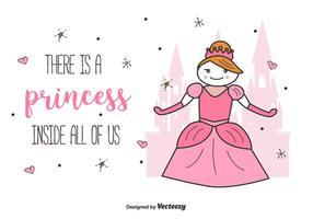 Princesa Ilustração Vector Background