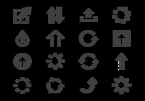 Ícones de atualização de ícones vetor