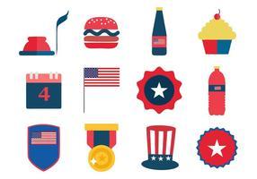 Livre Dia da Independência 4 de julho ícones Vector