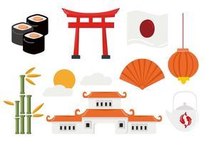 Vetor japonês livre do curso