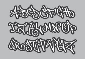 Alfabeto Grafiti vetor