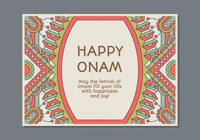 Molde do cartaz de Onam