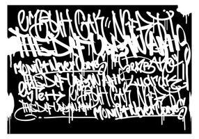Graffiti Tags Fundo Preto vetor