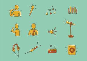 Ícone de música vetor