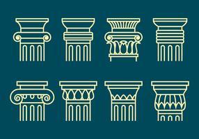 Ícones coríntios conjunto vetor