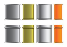 Blank Tin Box Vetores Set