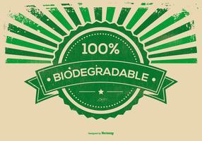 Ilustração retro do fundo do Grunge biodegradável vetor