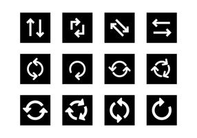Ícone de atualização SiIhouette Vector Set