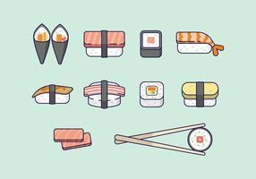 Livre Sushi ícones vetor