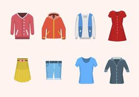 Vetores de roupa plana