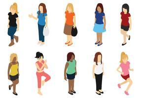 Ícones do vetor da mulher