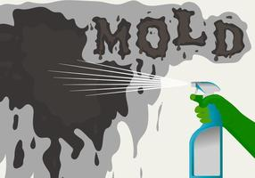 Pulverização Mold Vector Background