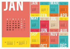 Ilustração grátis do modelo do calendário de desktop 2018 vetor