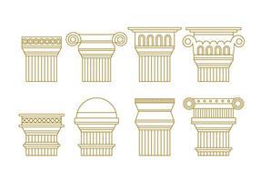 Pacote de vetores Free Roman Pillars