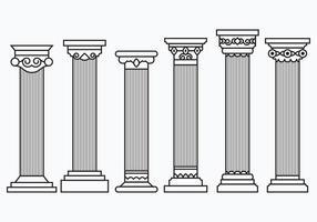 Conjunto de Colunas do Corinthian vetor