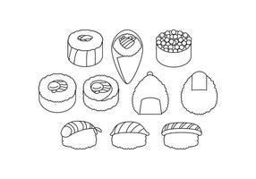 Vetor de ícone de comida japonesa grátis
