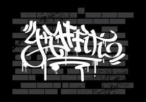 Graffiti no fundo do vetor de parede