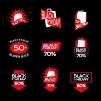 adesivo de black friday para web e aplicativo vetor