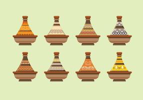 Coleção marroquina Tajine vetor