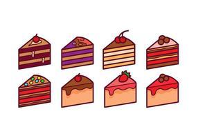 Pacote de vetores de fatias de bolo