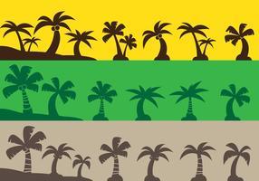 Ícones de árvore de coco vetor