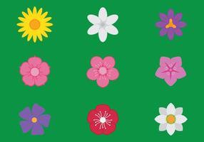 Ícones de flores vetor