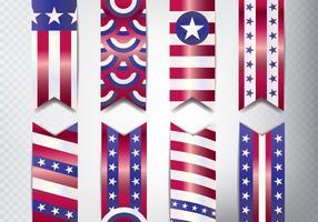 Conjunto de Banner do Memorial Day vetor