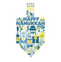 cartão comemorativo do feriado judaico hanukkah vetor