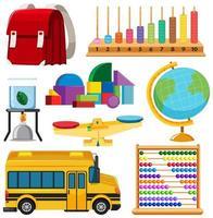 conjunto de ferramentas fixas e escola vetor