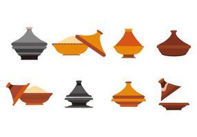 Vector de coleção de cerâmica Tajine grátis