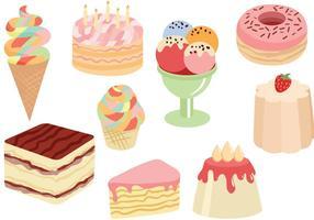 Vetores grátis de bolos de doces