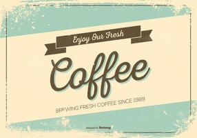 Cartaz promocional do café retro do estilo do Grunge