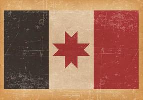Antiga bandeira de Grunge de Udmurtia vetor