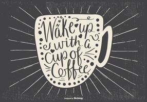 Ilustração Typogarphic do café vetor