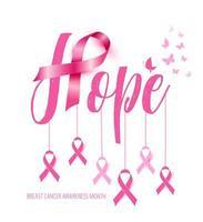 design de conscientização do câncer de mama vetor
