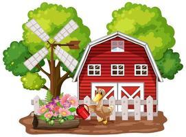 fundo de tema de fazenda com animais de fazenda vetor