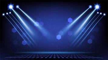 palco abstrato com luzes cênicas