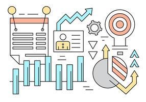 Elementos do vetor de estatísticas de negócios grátis