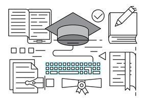 Elementos do vetor da educação linear