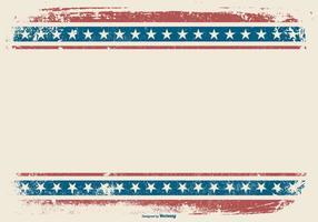 Fundo patriótico de estilo grunge vetor
