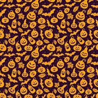 padrão abstrato sem costura de halloween vetor