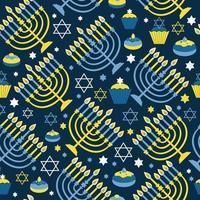 feliz hanukkah fundo com menorá vetor