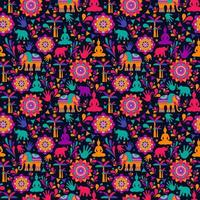 feliz festival de holi, elementos coloridos