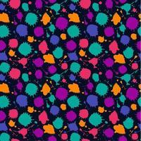 padrão sem emenda de cor brilhante de borrões de mão desenhada.